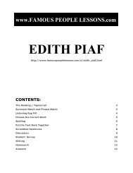 EDITH PIAF - Famous People Lessons.com