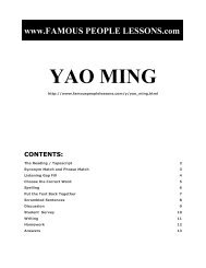 YAO MING - Famous People Lessons.com