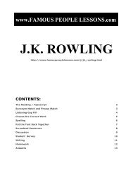 J.K. ROWLING - Famous People Lessons.com