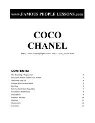 COCO CHANEL - Famous People Lessons.com