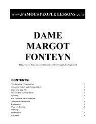 DAME MARGOT FONTEYN - Famous People Lessons.com