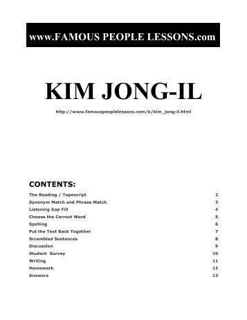 KIM JONG-IL - Famous People Lessons.com