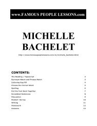 MICHELLE BACHELET - Famous People Lessons.com