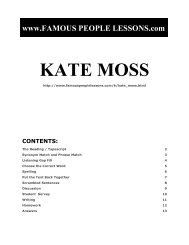 KATE MOSS - Famous People Lessons.com