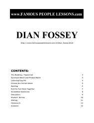 DIAN FOSSEY - Famous People Lessons.com