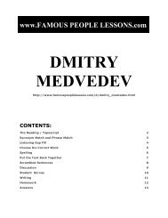 DMITRY MEDVEDEV - Famous People Lessons.com