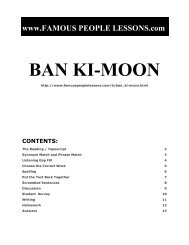 BAN KI-MOON - Famous People Lessons.com