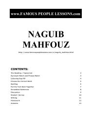 naguib mahfouz discussion - Famous People Lessons.com