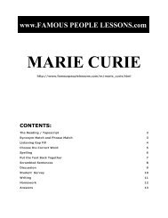MARIE CURIE - Famous People Lessons.com