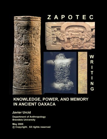 Zapotec Writing - Famsi