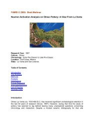 Neutron Activation Analysis on Olmec Pottery: A View From ... - Famsi