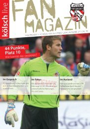 kölsch live - Fan-Projekt des 1. FC Köln