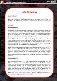 Info Gästefans - Fan-Projekt
