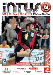 MI. | 26. Sep. | 20.15 UHR Füchse Berlin - Fanclub Red Devils eV