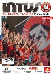 Di. | 23. OKT. |19.30 UHR Füchse Berlin - Fanclub Red Devils eV