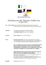 Tubertini Golden Cup Einzelangeln in Cheb 2009 - Fangplatz