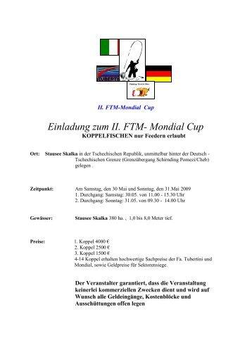 Koppelangeln Mondial Cup im Mai in Cheb 2009 - Fangplatz