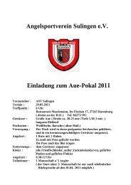 Angelsportverein Sulingen e.V. Einladung zum Aue-Pokal 2011
