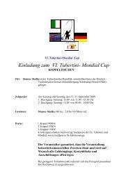 Koppelangeln Mondial Cup im September in Cheb 2009 ... - Fangplatz