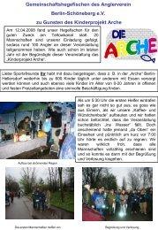 Gemeinschaftshegefischen des Anglerverein Berlin ... - Fangplatz