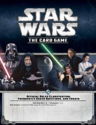 Star Wars: The Card Game FAQ - Fantasy Flight Games