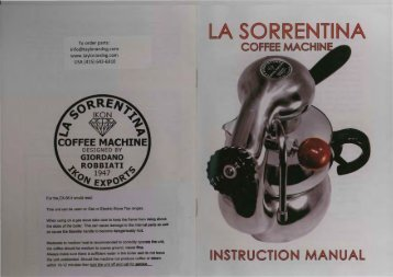 la sorrentina coffee machine