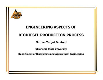 Technical aspects of production and analysis of biodiesel from used cooking oil--A review