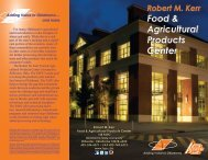 FAPC Brochure - Robert M. Kerr Food & Agricultural Products Center