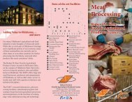 Meat Processing Brochure - Robert M. Kerr Food & Agricultural ...