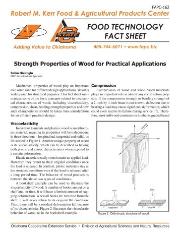 FAPC-162 Strength Properties of Wood for Practical Applications