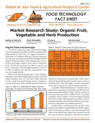 Market Research Study: Organic Fruit, Vegetable and Herb Production