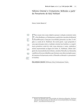 Niilismo Oriental e Cristianismo - SIAEN