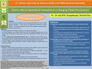 5th African Agricultural Science Week and FARA General Assembly ...