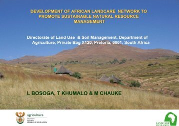 Development of African Landcare Network to Promote ... - FARA