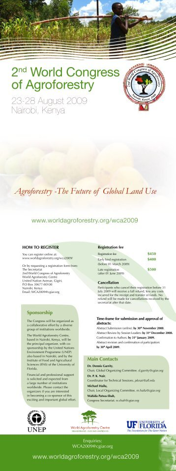 2nd World Congress of Agroforestry 23-28 August 2009 ... - FARA
