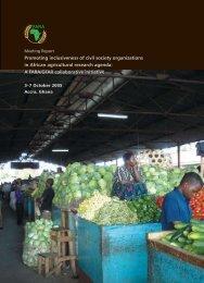 Promoting inclusiveness of civil society organizations in ... - FARA