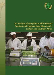 An analysis of compliance with selected SPS measures in ESA - FARA