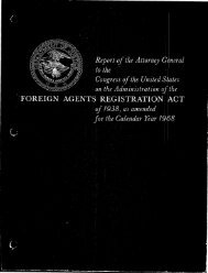 FARA Report to Congress - 1968