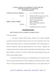 IN THE UNITED STATES DISTRICT COURT FOR THE ... - FARA