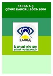 Çevre Raporu 2006 - Farba
