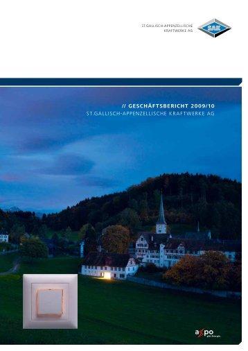 // geschäftsbericht 2009/10 St.GalliSch-appenzelliSche kraftwerke aG