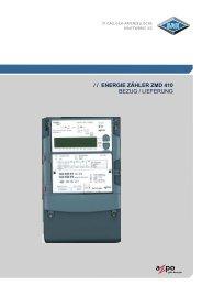 Energie Zähler ZMD 410 - SAK