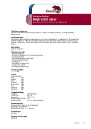 High Solid Lasur - Louis Gnatz GmbH
