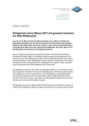 Erfolgreiche Immo Messe 2013 mit grossem ... - Farbe bekennen
