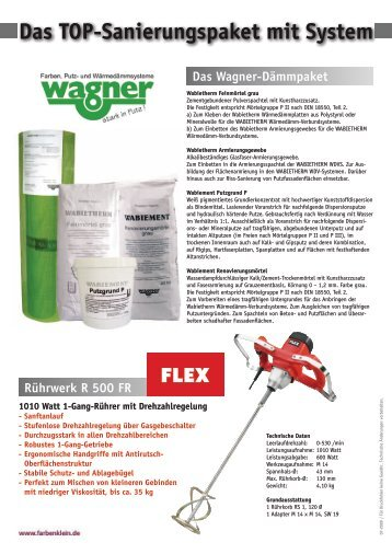 Details und Bestellformular finden Sie hier - Farben Klein GmbH