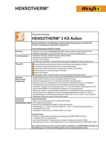 HENSOTHERM® 3 KS Außen - Farben Klein GmbH