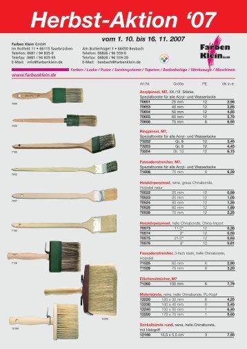 Download des Aktionsflyers - Farben Klein GmbH