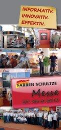 Messe-Flyer - Farben Schultze