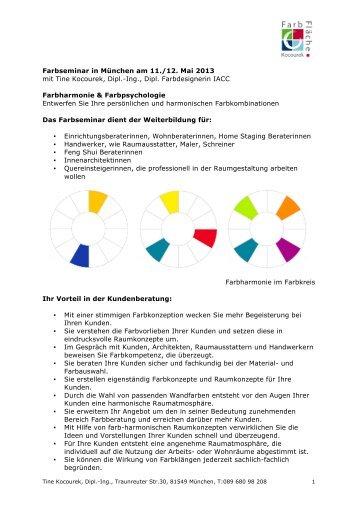 Seminarbeschreibung und Anmeldeformular - Farbenergie