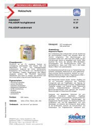 Technisches Merkblatt für Paladur - Farbenhaus Metzler Onlineshop